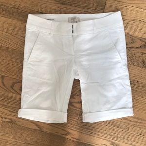 LOFT White Bermuda Shorts
